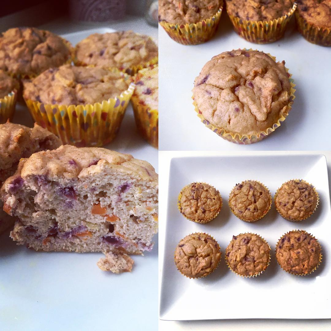 Carrot Cake Protein Muffins | @breezyconner