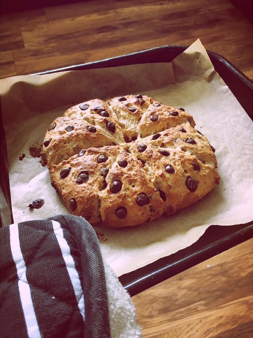 Clean Chocolate Chip Scones | @vintagefish