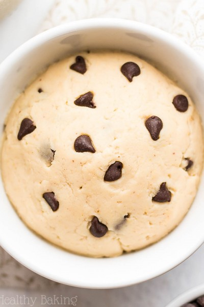 Single-Serving Chocolate Chip Peanut Butter Protein Cookie Dough