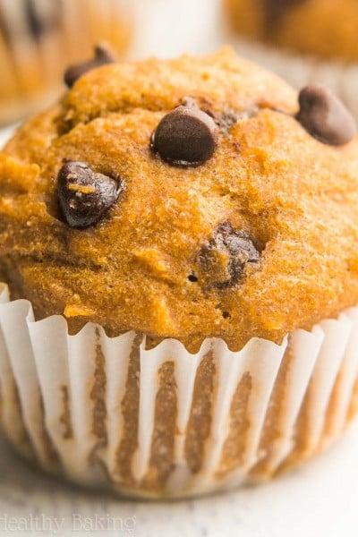 Chocolate Chip Pumpkin Mini Muffins