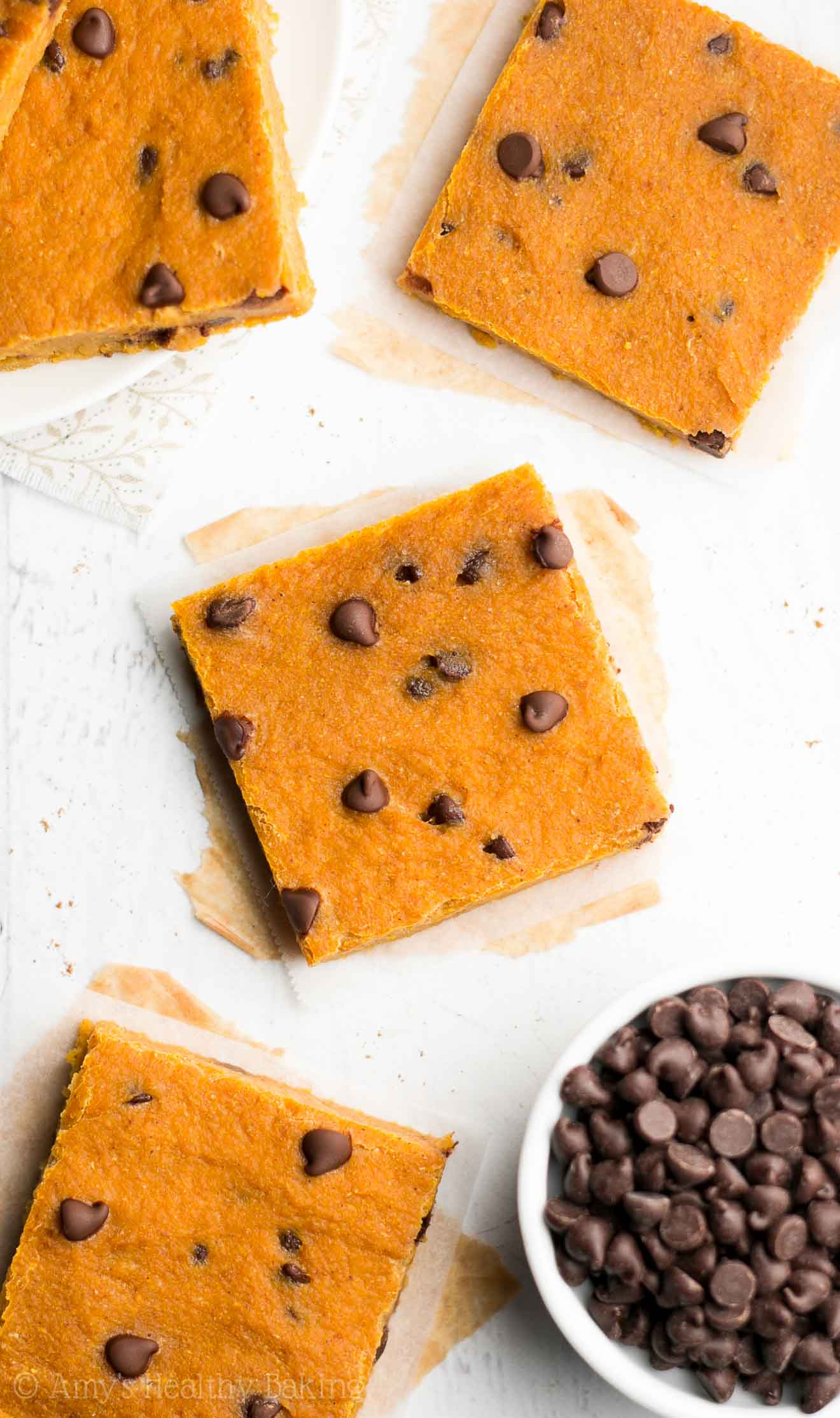 Chocolate Chip Pumpkin Pie Brownies | Amy's Healthy Baking