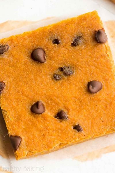 Chocolate Chip Pumpkin Pie Brownies