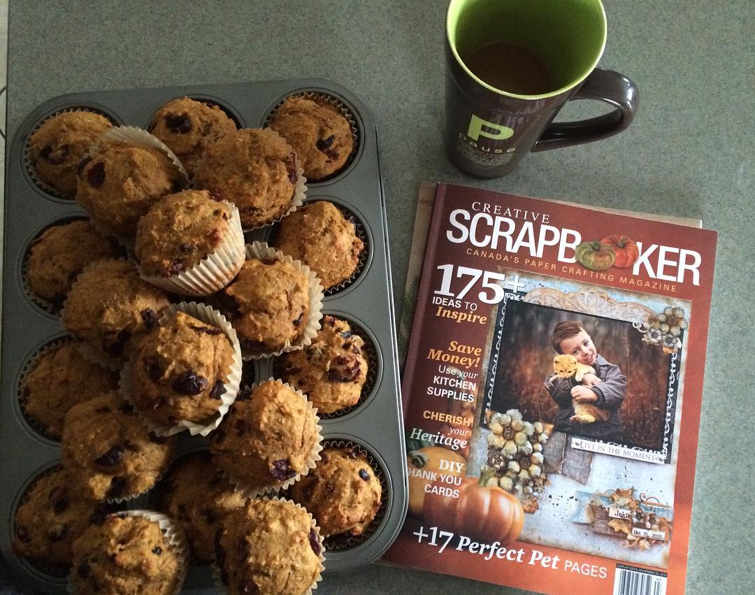 cranberry pumpkin muffins | @scrappyhappymom