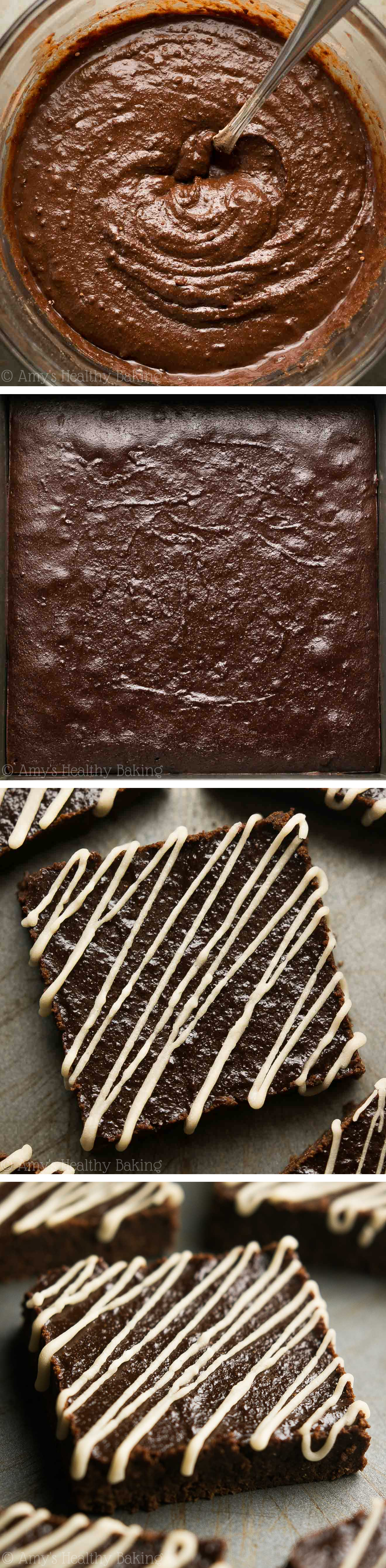 Healthy & Fudgy Mocha Brownies -- seriously the BEST! Rich, super easy & just 76 calories!