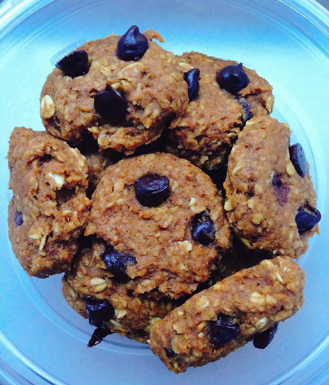 pumpkin pie chocolate chip oatmeal cookies | @adancersliveit