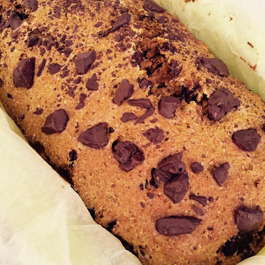 chocolate chip pumpkin bread by @gymgoddessne