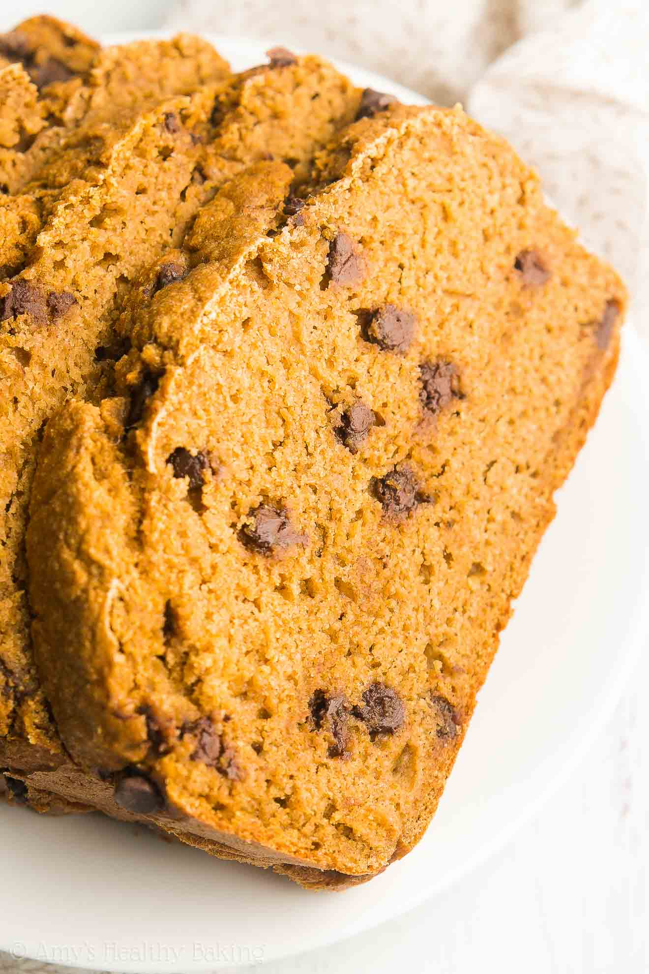Greek Yogurt Pumpkin Chocolate Chip Pound Cake | Amy's Healthy Baking