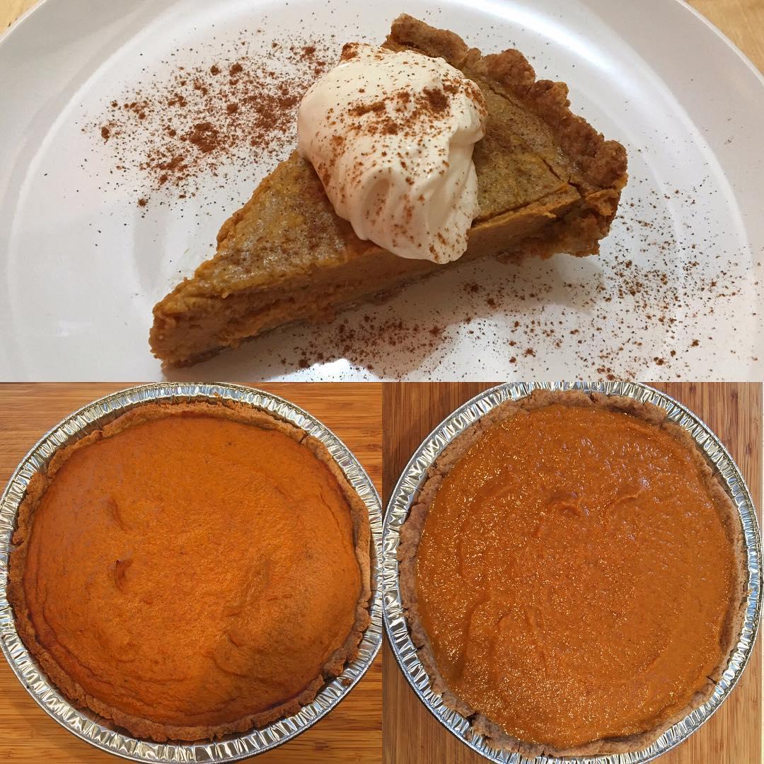 the ultimate healthy pumpkin pie by @marisa1288