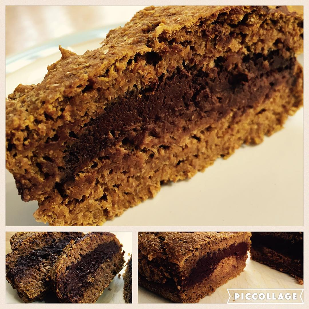 chocolate truffle pumpkin muffins {as a loaf!} by @gymgoddessne