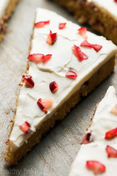 Healthy Copycat Cranberry Bliss Bars