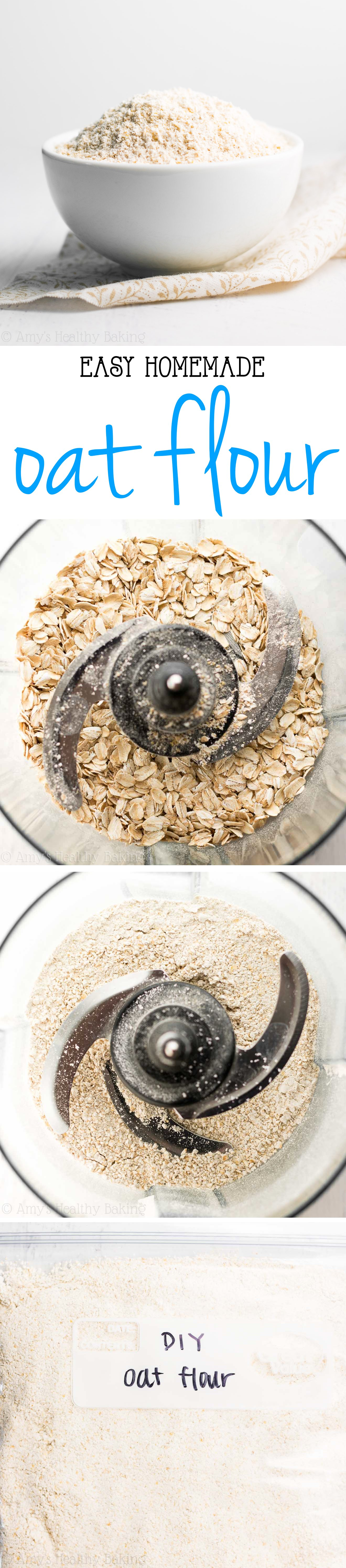 How to Make Oat Flour -- so healthy & easy! It just takes a few minutes!