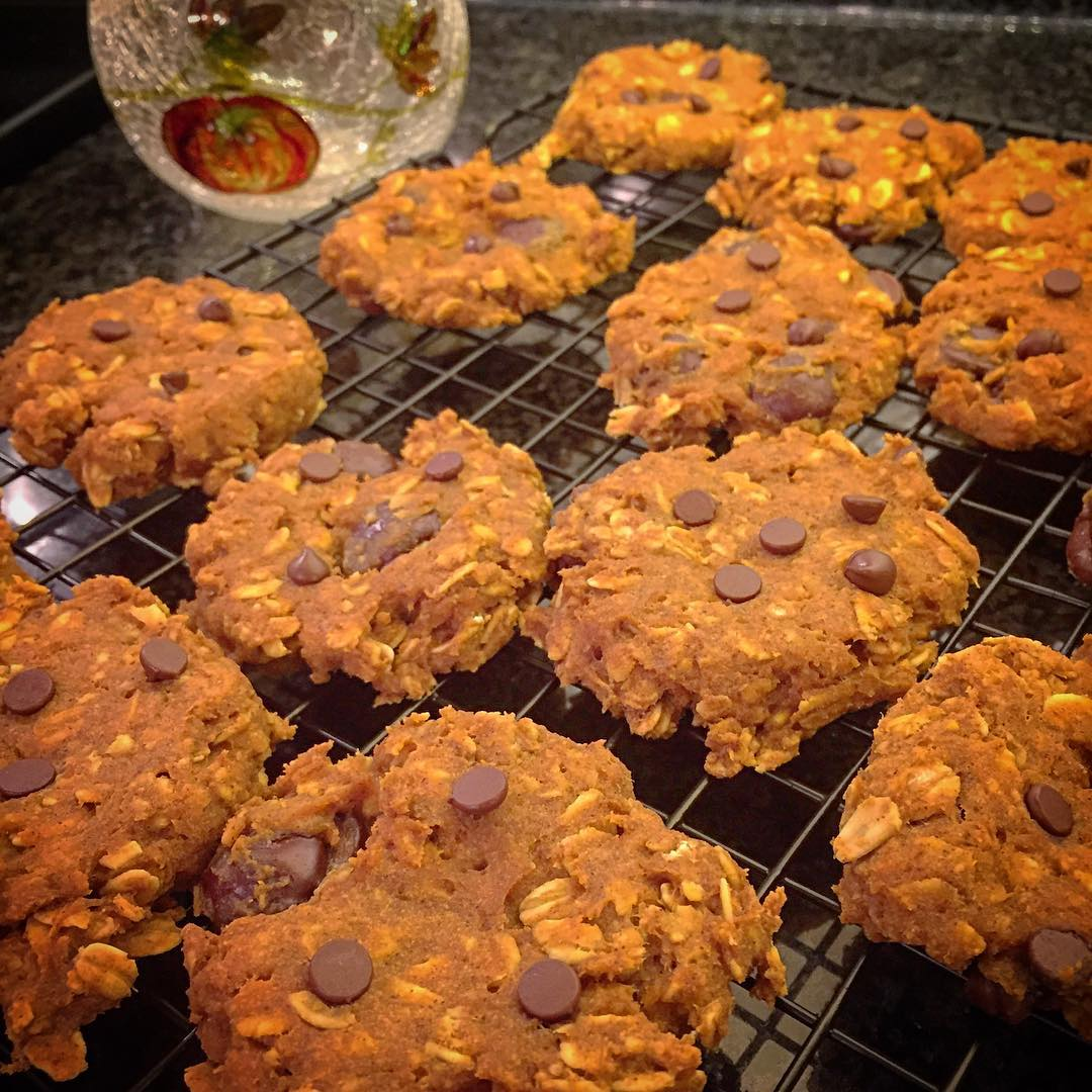 pumpkin pie chocolate chip oatmeal cookies by @coachcourtpolo