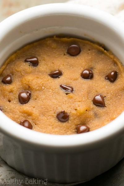 Skinny Single-Serving Chocolate Chip Gingerbread Mug Cake