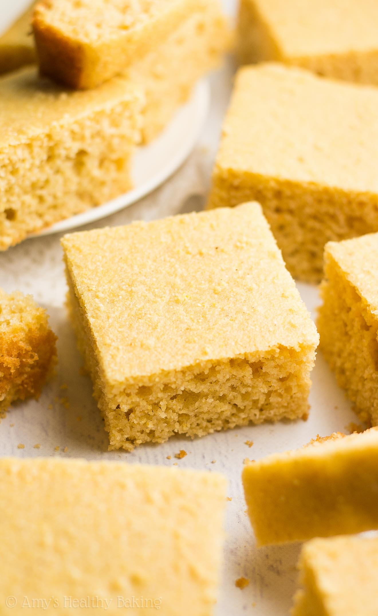 The Ultimate Healthy Cornbread -- easy, perfectly tender & only 73 calories! It doesn't taste healthy at all! You'll never use another recipe again!