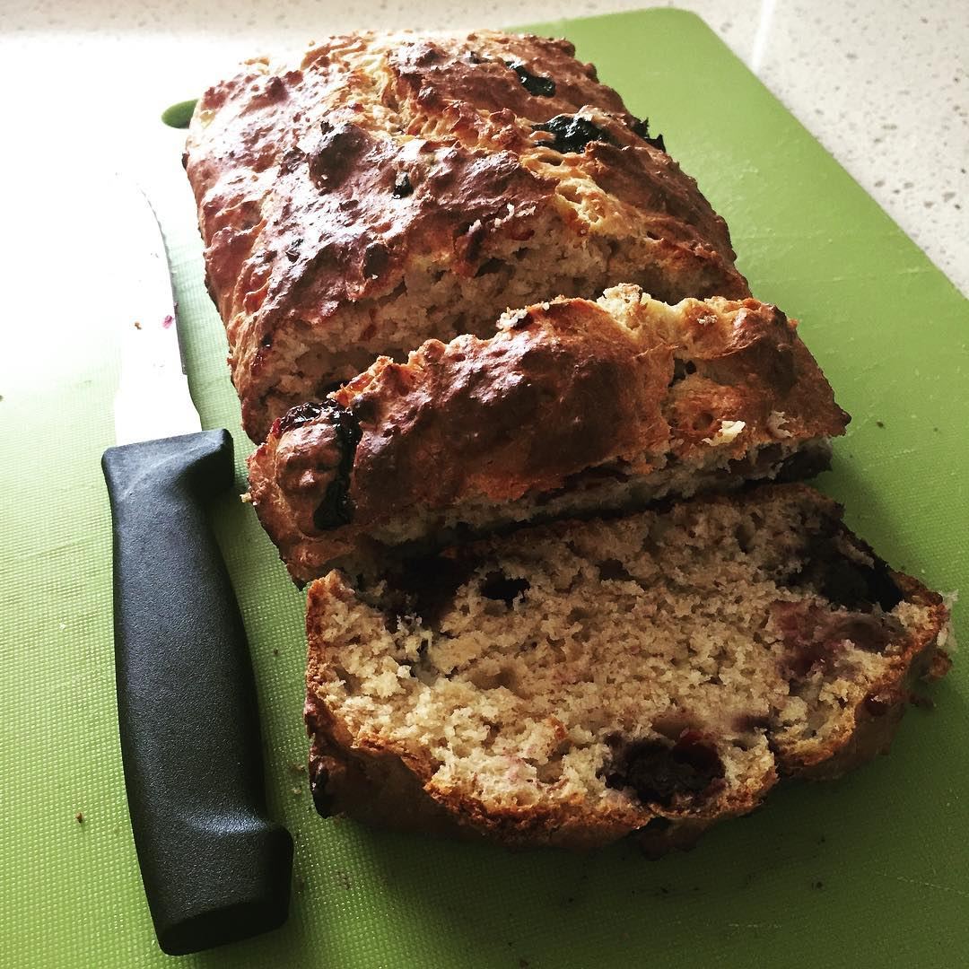 whole wheat blueberry buttermilk banana bread by @alicexdeng