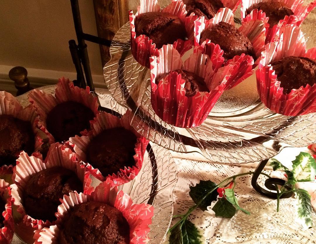 double chocolate muffins by @liznoveggiegirl