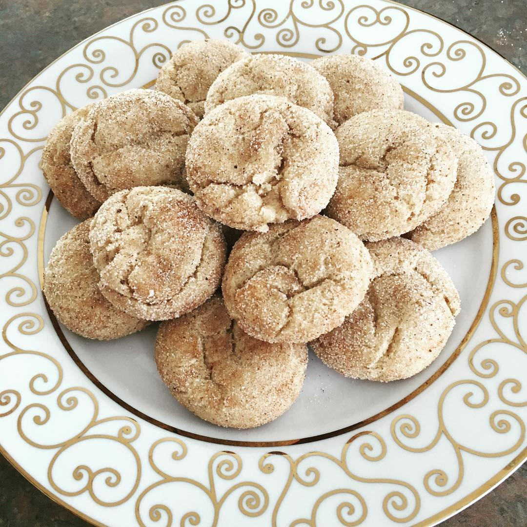 eggnog snickerdoodles by @mrsangc