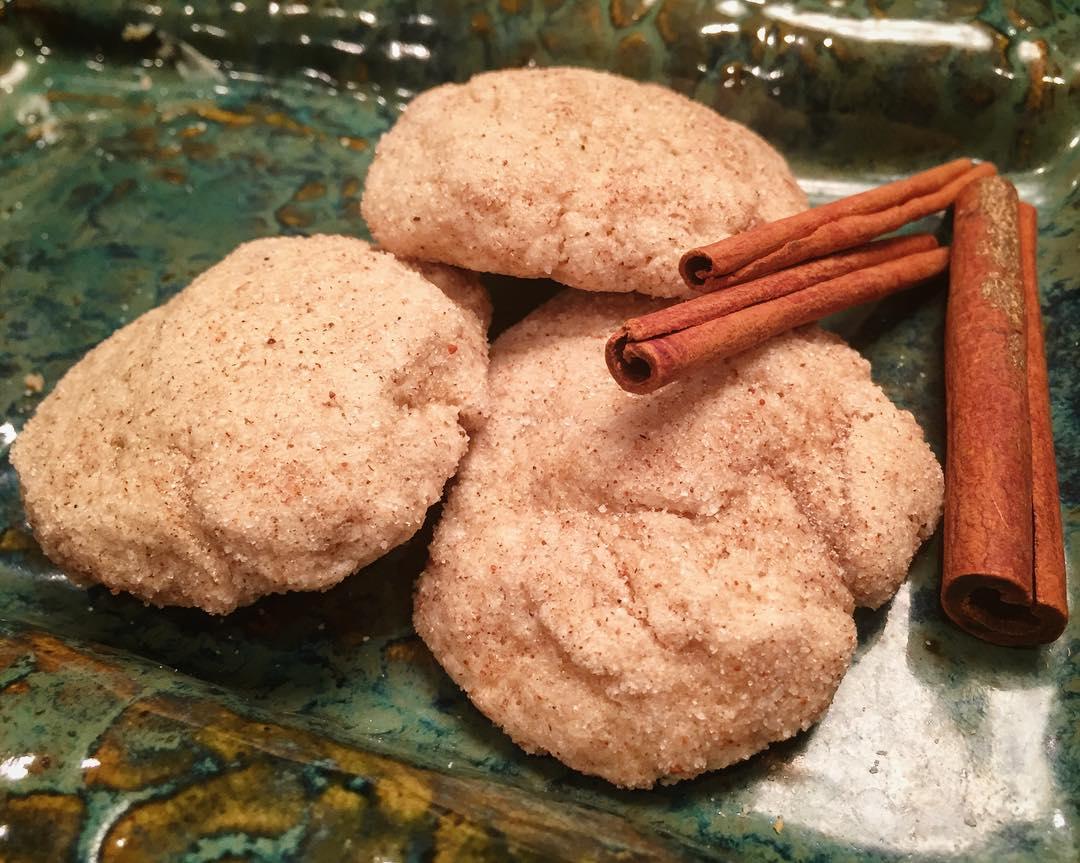 eggnog snickerdoodles by @sarahbella_eats