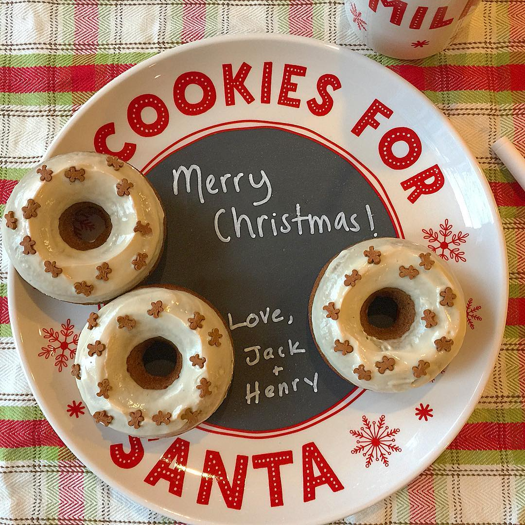 baked gingerbread donuts with maple glaze by @heather_kidskitchen