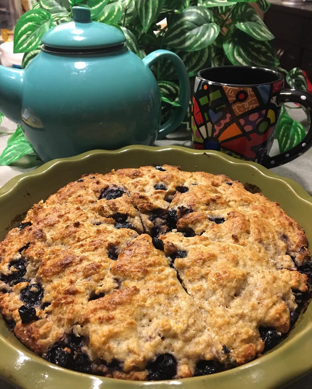 the ultimate healthy blueberry scones by @scrappyhappymom