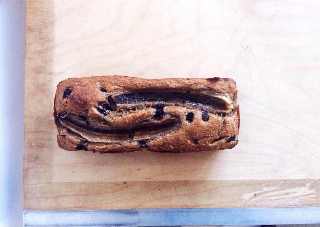 whole wheat blueberry buttermilk banana bread by @_almamatters_