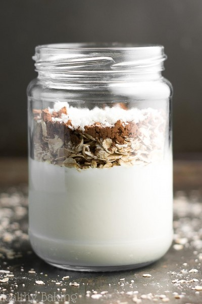 Almond Joy Protein Overnight Oats