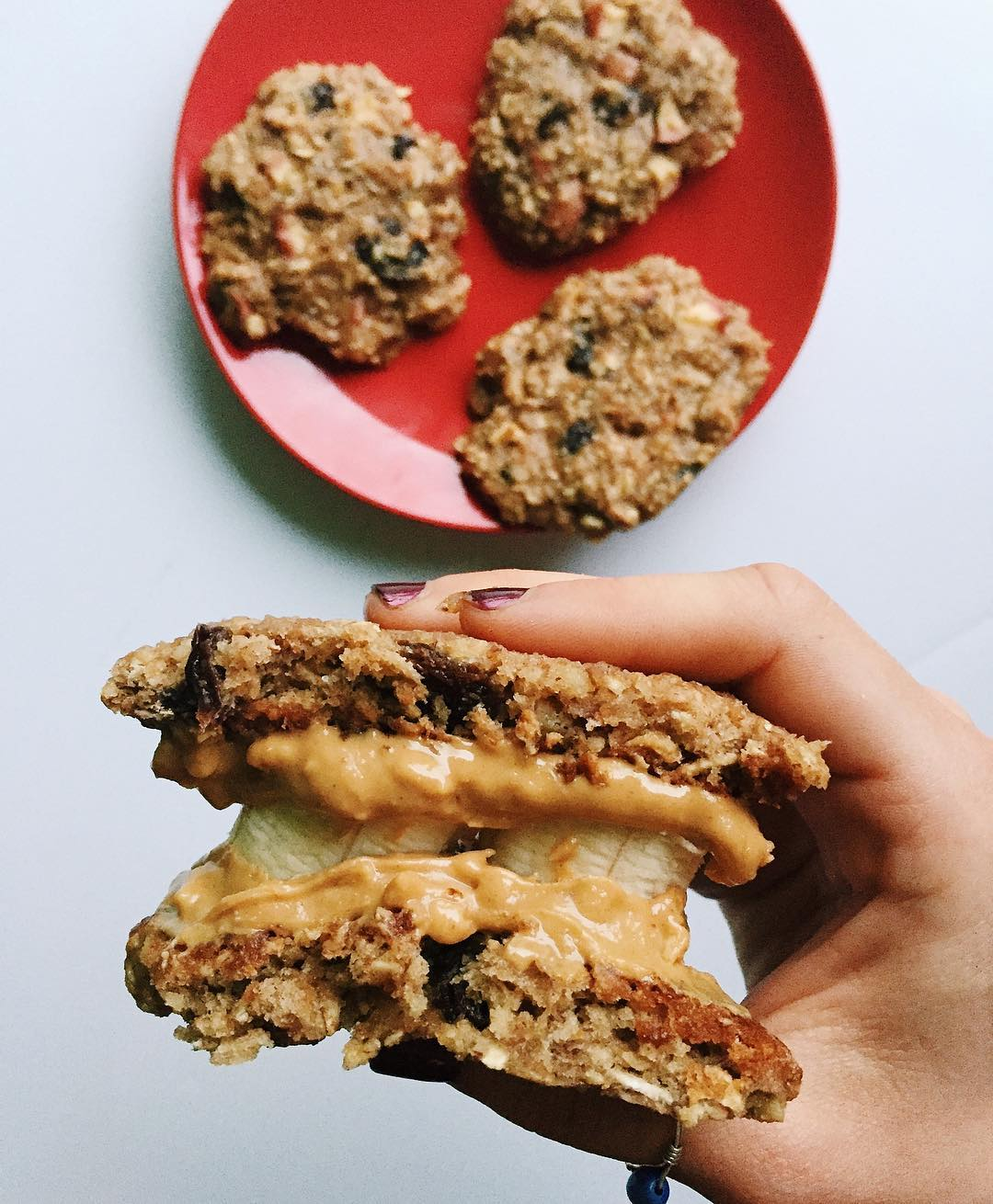 apple pie oatmeal cookies by @hungryhaley
