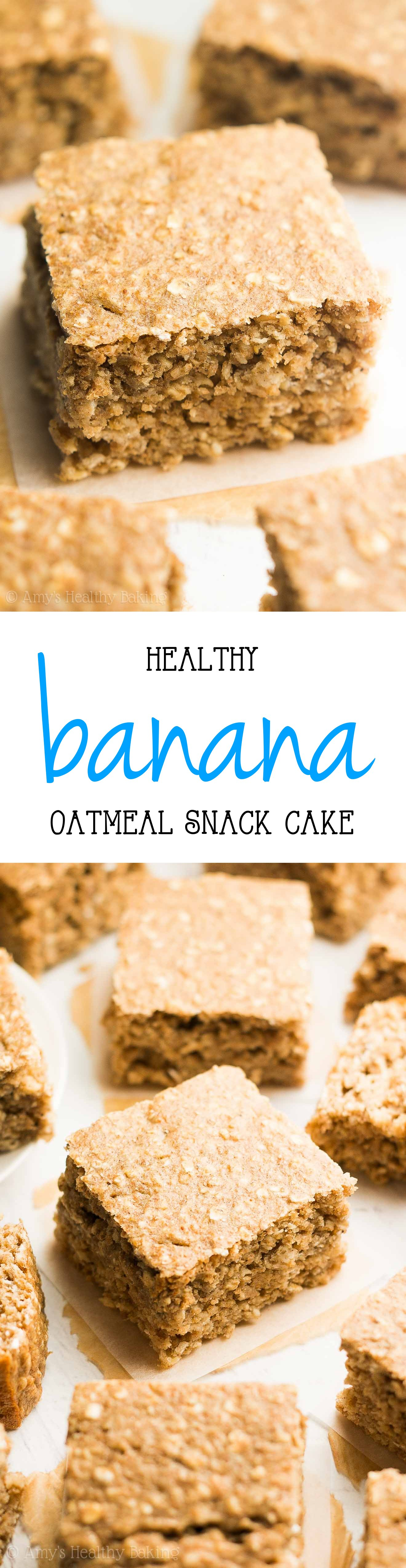 Healthy Banana Oatmeal Snack Cake Only 101 Calories Perfect For Guilt Free