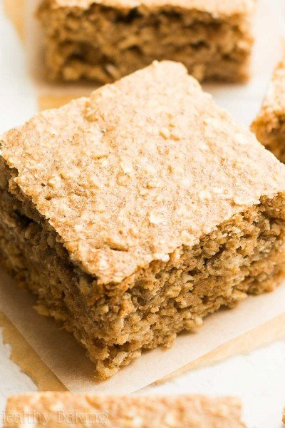 Healthy Banana Oatmeal Snack Cake