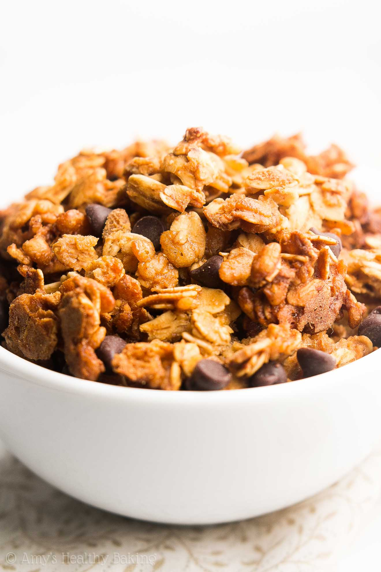 Healthy Chocolate Chip Peanut Butter Granola