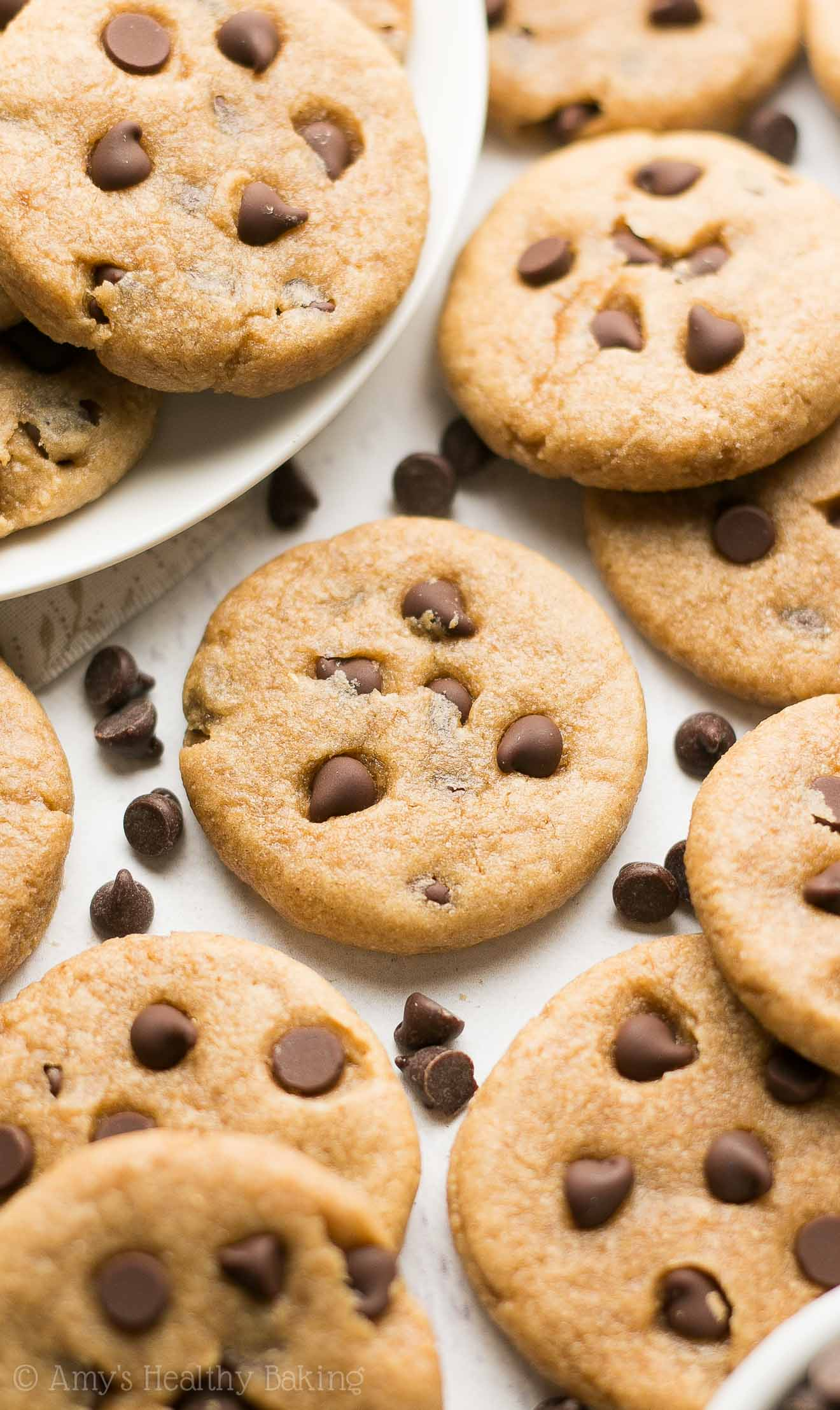 Mini Chocolate Chip Peanut Butter Cookies | Amy's Healthy Baking