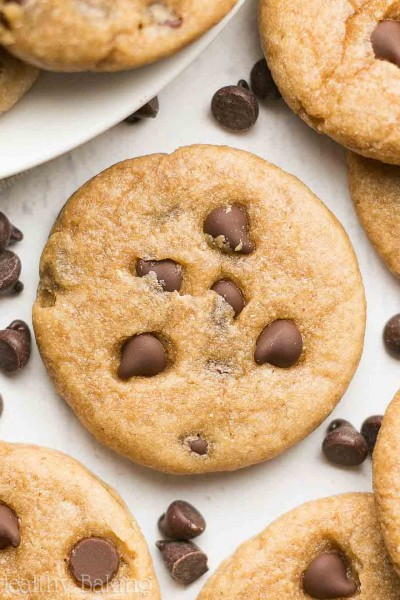 Mini Chocolate Chip Peanut Butter Cookies