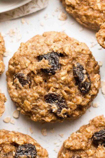 Healthy Oatmeal Raisin Breakfast Cookies