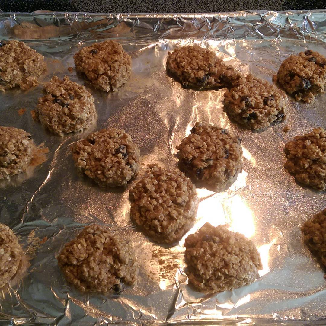 healthy oatmeal raisin breakfast cookies by @thecraftywrench