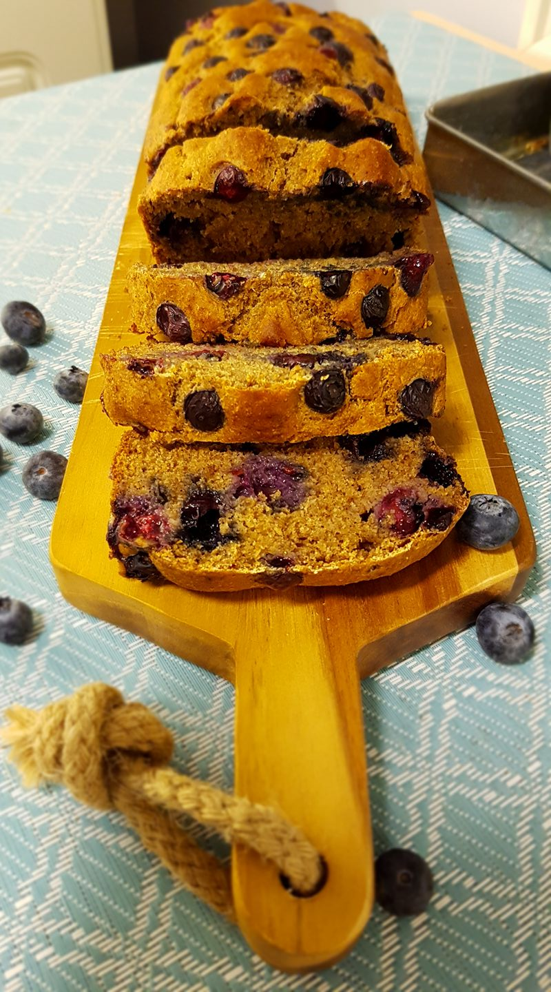 whole wheat blueberry buttermilk banana bread by @stani