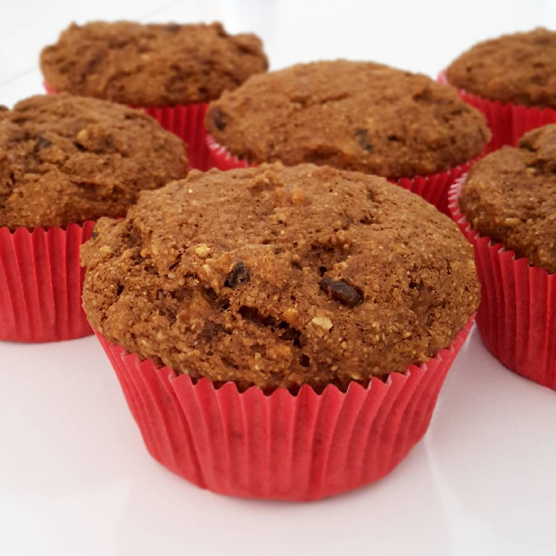 banana bran muffins {with raisins and coconut!} by @claras_keksfabrik