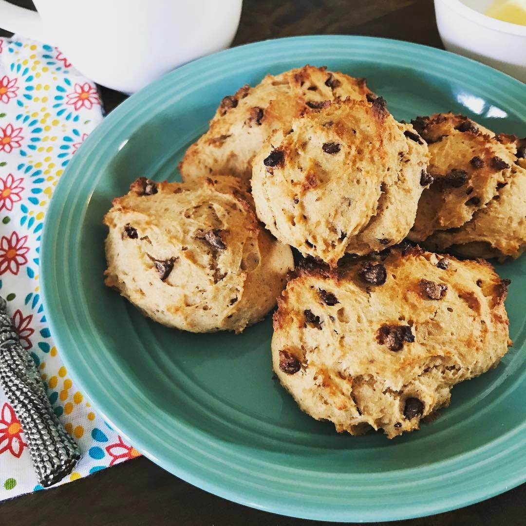 healthy chocolate chip banana bread scones by @lisa_walton_2016