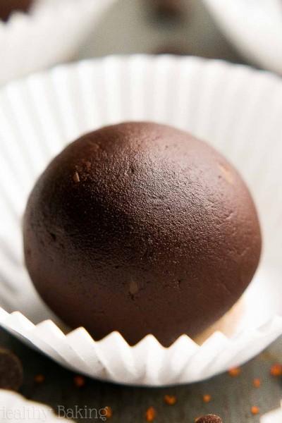 Healthy Dark Chocolate Orange Truffles