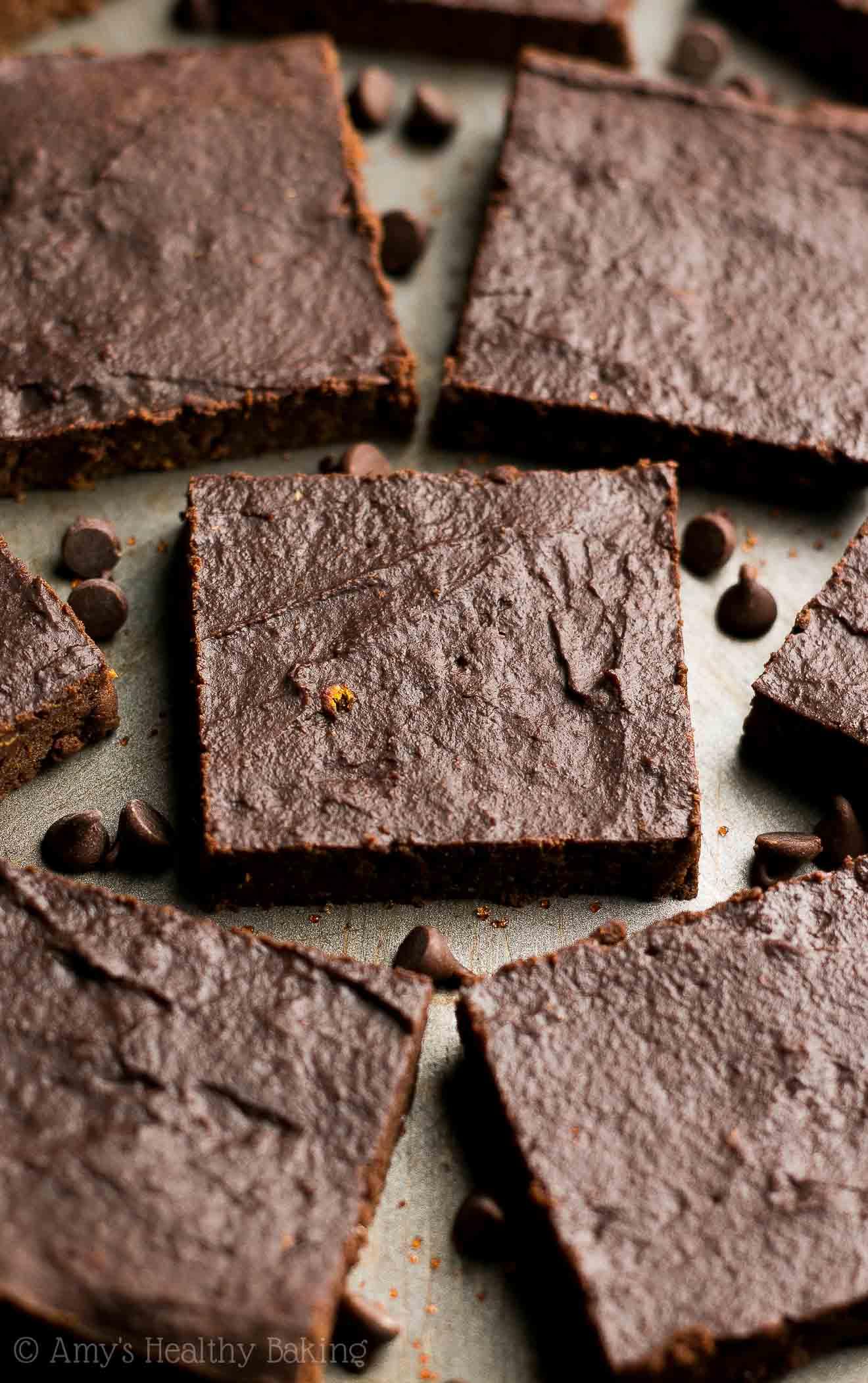 Healthy Fudgy Dark Chocolate Orange Brownies