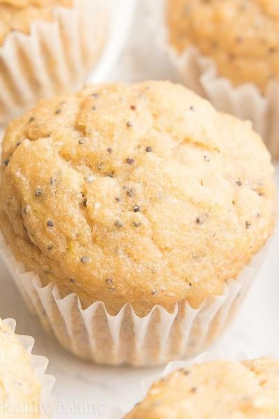 Healthy Lemon Poppy Seed Mini Muffins