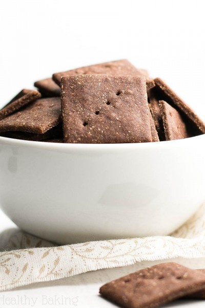 Healthy Mini Chocolate Graham Crackers