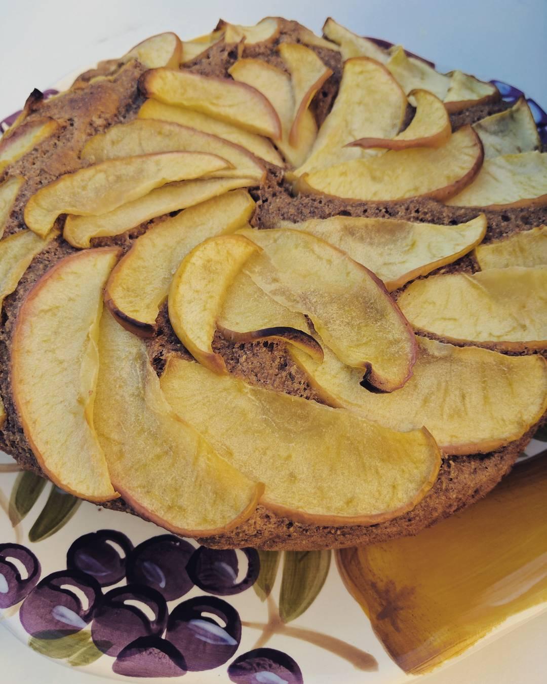 simple cinnamon apple cake by @bestlaidpans