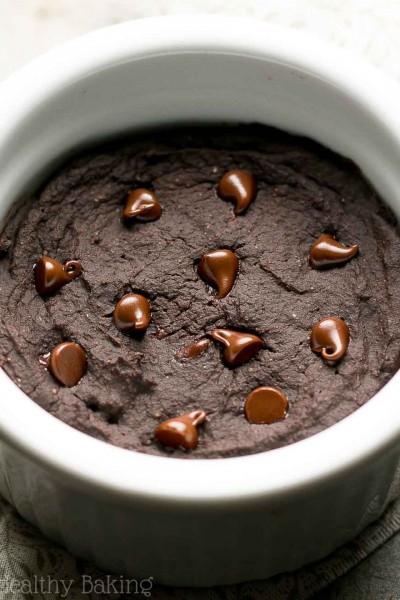 Healthy Single-Serving Mocha Chocolate Chip Mug Cake