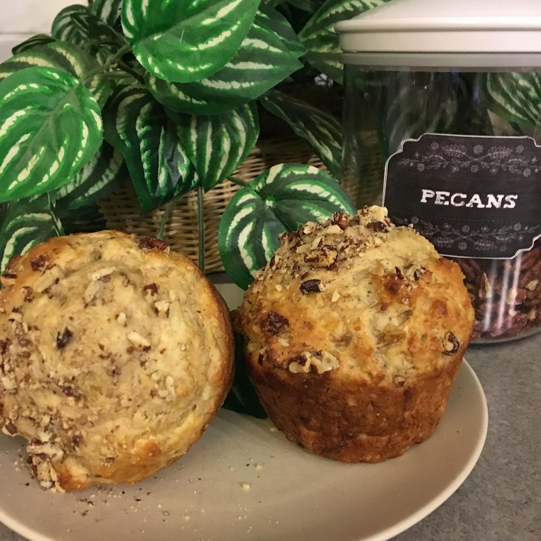 the ultimate healthy banana nut muffins by @scrappyhappymom