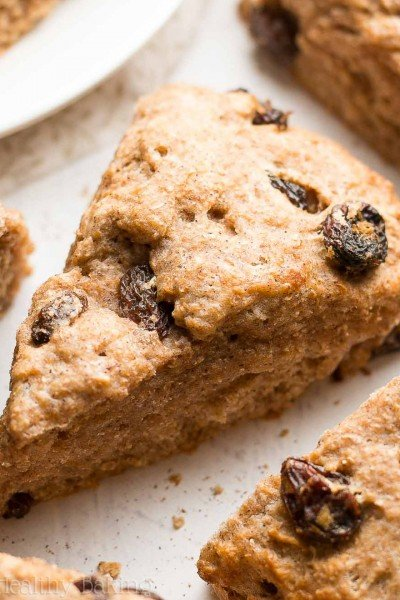Healthy Cinnamon Raisin Scones