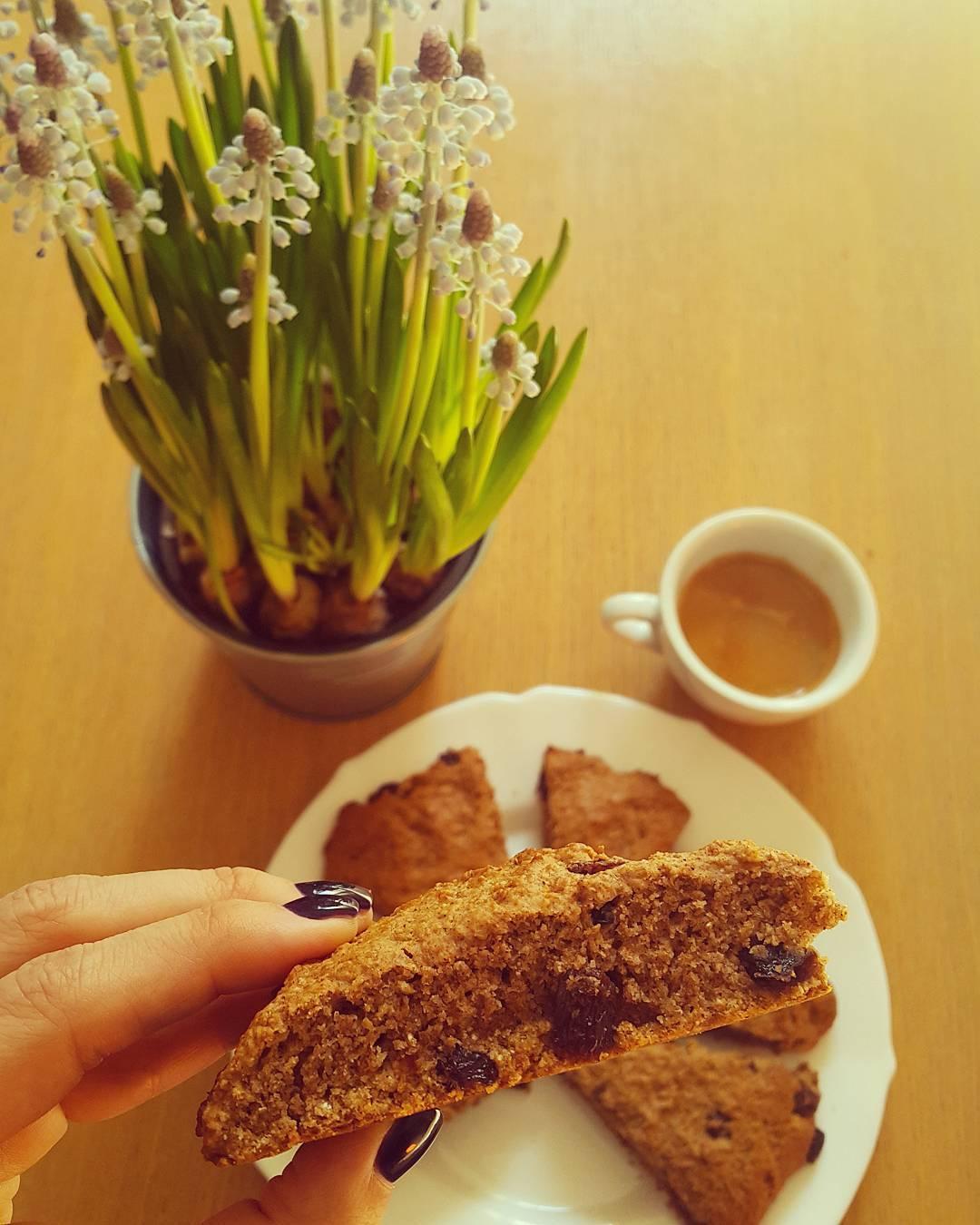 healthy cinnamon raisin scones by @ziv_jackie