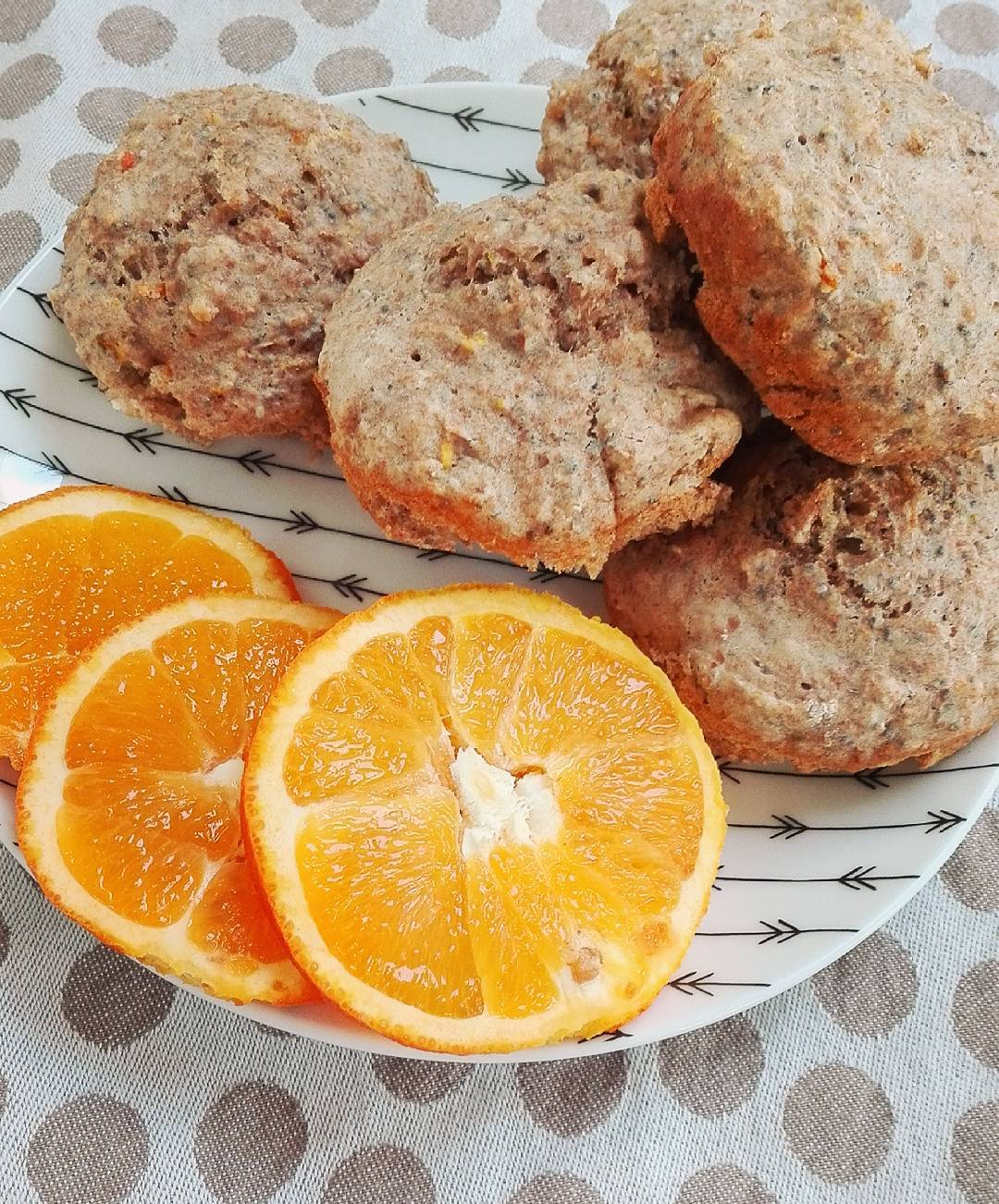 cranberry orange mini muffins by @healthyhes