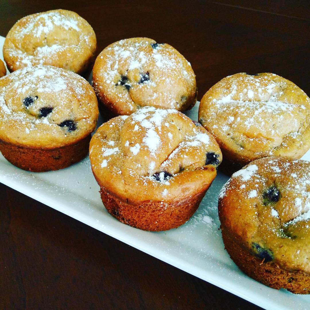 the ultimate healthy blueberry muffins by @healtholution