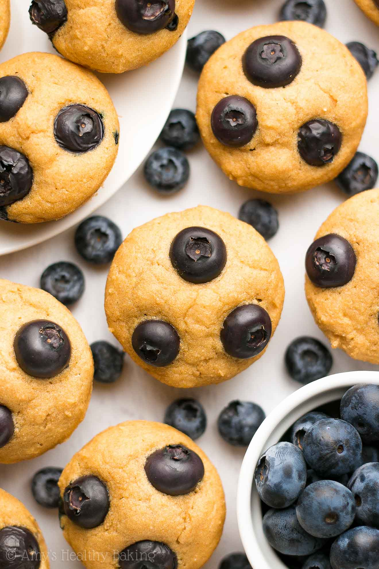 Healthy blueberry buttermilk pancake bites amys healthy baking healthy blueberry buttermilk pancake bites made in a mini muffin pan ccuart Gallery