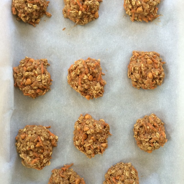 carrot cake oatmeal cookies by @corrycoffey152